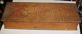 Flemish Pyrography wood glove box