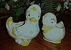 Vintage pair of duck nursery planters