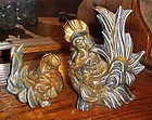 Butch and Biddy ceramic rooster and hen figurines Kay Finch mold