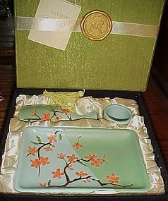 Silvestri Asia Society 4 pc Stoneware Cherry Sushi set in original box
