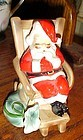 Josef Originals Santa in his rocker figurine The day after delivery