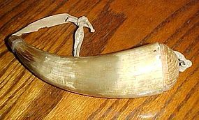 Old primitive real powder horn