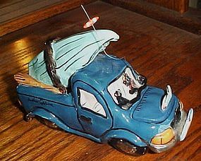 Blue Sky Clayworks Heather Goldminc  Black Bear Fishing Truck