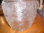 Vintage Anchor Hocking clear sandwich glass cookie jar  PERFECT