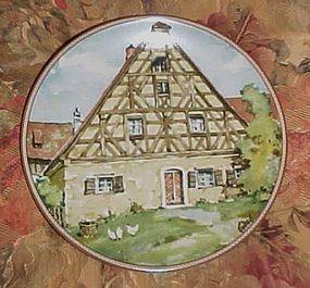 Konigszelt Bayern Half-timbered houses series plate 5 Franconian house