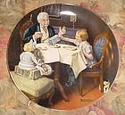 "Norman Rockwell Heritage Collection plate "" The Gourmet"" MIB"