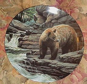 Dominion China Co collector plate Wild and Free The Cinnamon bear