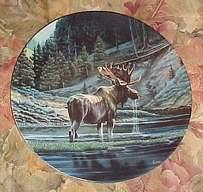Dominion China Co collector plate Wild and Free The Moose