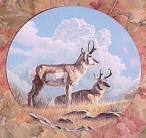 Wild and Free Canada's Big Game series plate  The Pronghorn MIB