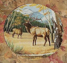 Dominion China Wild and Free Canada's Big Game series plate, The Elk