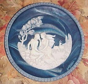 Incolay Isle of Circe cameo plate Voyage of Ulysses  collection 1984