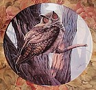Knowles Magestic Birds collection plate The Great Horned Owl MIB