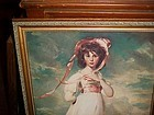 Beautiful Large Vintage Pinkie & Blue Boy Professionally Framed prints