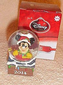 JC Penny 2014 Mickey Mouse annual miney snow globe