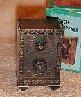 Antique stand up Safe Die-cast pencil sharpener in box Hong Kong