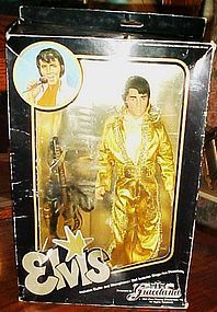 Elvis Preslley doll Graceland 1984 MIB gold jumpsuit