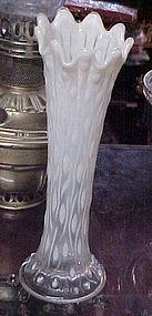 Old Northwood tree trunk opalescent vase, circa 1915