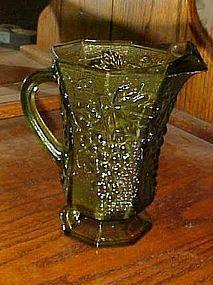Vintage green harvest grape pitcher by Anchor Hocking