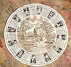 Alfred Meakin God Bless our House calendar plate with zodiac 1972