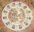 1973 Alfred Meakin God Bless our House Calendar zodiac plate