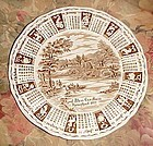 Alfred Meakin 1977 God Bless our House Calendar plate with zodiac