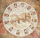Alfred Meakin 1979 God Bless our House Calendar plate with zodiac