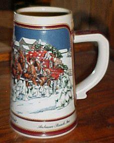 Anheuser-Busch Budweiser Beer Stein Collectors Series 1989