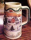 1996 Budweiser American Homestead  Holiday beer stein