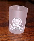 Jagermeister frosted 2cl shot glass white logo