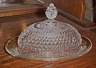 Indiana Diamond point oval butter dish