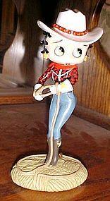 Betty Boop Cowgirl figurine Danbury Mint  MIB