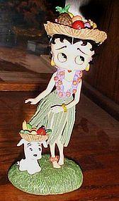 Collectible Betty Boop Hawaiian Holiday figurine MIB Danbury Mint