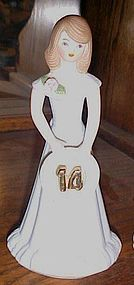 Enesco Growing up girls birthday figurine cake topper