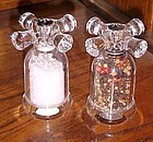 Heavy clear acrylic old fashioned faucets salt and pepper grinders