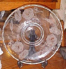 Fostoria Camellia pattern  lily float console bowl 11 3/8""