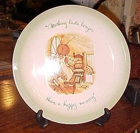 "Holly Hobbie ""Nothing lasts longer than a happy memory"" plate"