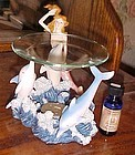 Mermaid and  dolphins fragrant tea lite oil burner