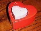 Two hearts ceramic salt and pepper shaker set
