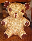 NS Gustin rare brown sponged teddy bear cookie jar