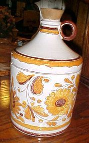 Vintage Norleans Italy moonshine jug cookie jar floral decoration