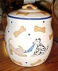 Ceramic dog bones and puppy dogs cookie treat jar Inspirado