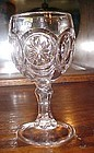 Red-Cliff For Fenton Knobby Bulls Eye Clear Glass 5.5 Wine Goblet