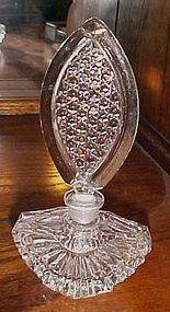 Lovely vintage pressed glass perfume bottle