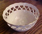 Lenox Ivory Pierced Heart candy bowl with Rose Design, USA