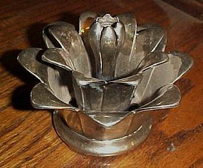 Wallace silver plated  lotus flower floral frog centerpiece
