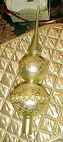 Hand blown German Christmas tree topper sphere Krebs Glas Lauscha