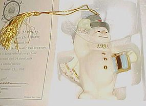 Lenox snowman ornament A Frosty Morning box & cert limited edition