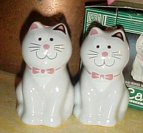 Cute Cozy cat salt and pepper shaker set boxed