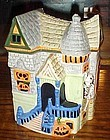 Ceramic haunted House cookie jar