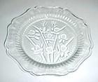 "Jeanette crystal Iris and Herringbone 5 1/2"" dessert sherbert plate"